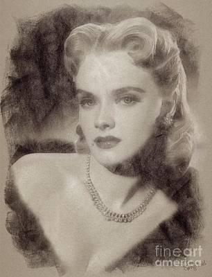 Anne Francis, Vintage Hollywood Actress Art Print