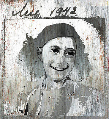 Surreal Art Mixed Media - Anne Frank 2 by Tony Rubino