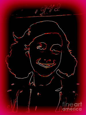 Digital Art - Anne Frank by Ed Weidman