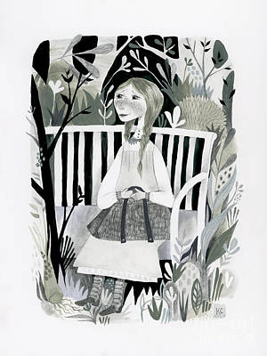 Graduation Gifts Drawing - Anne Girl by Kate Cosgrove