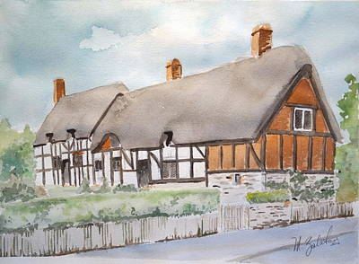 Anne Hathaway Painting - Anne Hathaway's Cottage by Marilyn Zalatan