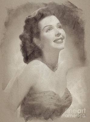 Musicians Drawings Rights Managed Images - Anne Miller, Vintage Actress Royalty-Free Image by John Springfield