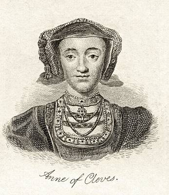 Anne Of Cleves 1515  1557 Queen Consort Art Print by Vintage Design Pics