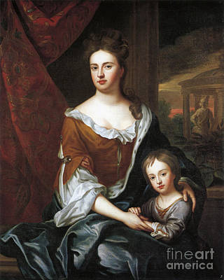 Prince William Painting - Anne With Her Son Prince William by Celestial Images