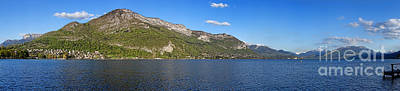 Photograph - Annecy Lake Panorama by Olivier Le Queinec