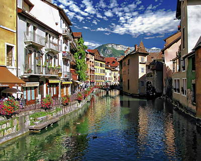Photograph - Annecy River View by Anthony Dezenzio