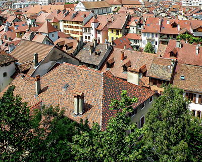 Photograph - Annecy Rooftop View by Anthony Dezenzio