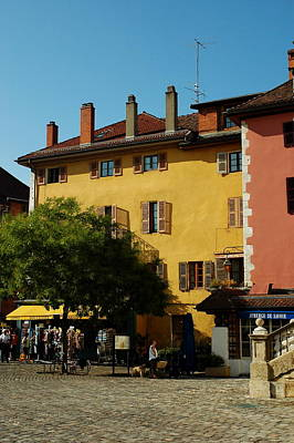 Photograph - Annecy Town Square by Francois Dumas