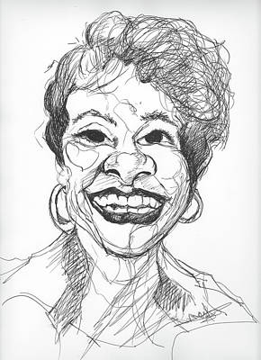 Drawing - Annette Caricature by Michelle Gilmore