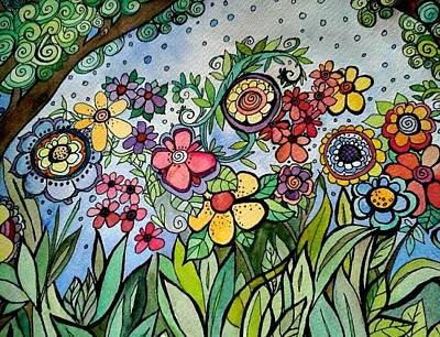 Mixed Media - Annette's Garden by Claudia Cole Meek