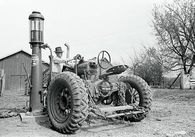 Photograph - Annettes Iowa Farm Tractor C. 1940 by Daniel Hagerman