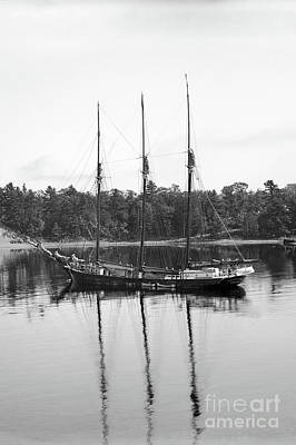 Impressionist Landscapes - Three-masted schoonerAnnie F. Case, Bangor, Maine Circa 1900 by California Views Archives Mr Pat Hathaway Archives