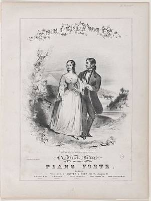 Music Royalty-Free and Rights-Managed Images - Annie Lawrie Sheet music cover, by Winslow Homer,  1836-1910 by Annie Lawrie