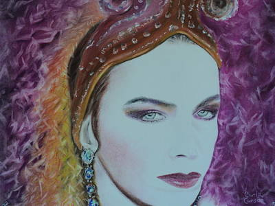 Pastel - Annie Lennox Of The Eurythmics Whiter Shade Of Pale by Carla Carson