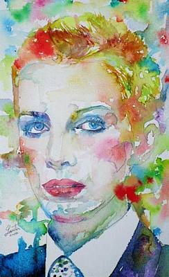 Painting - Annie Lennox - Watercolor Portrait by Fabrizio Cassetta