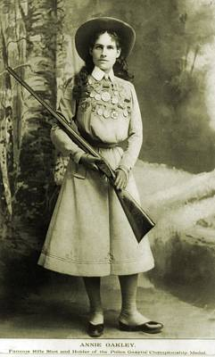 Bsloc Photograph - Annie Oakley 1860-1926 American by Everett
