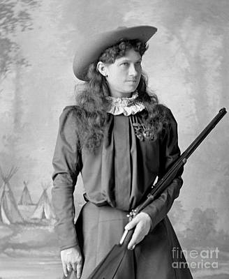 Sharpshooter Photograph - Annie Oakley by David Frances Barry