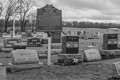 Photograph - Annie Oakley Grave In Ohio  by John McGraw