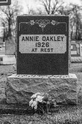 Photograph - Annie Oakley Grave by John McGraw