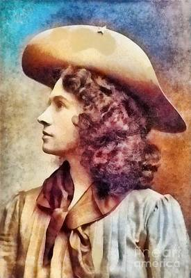 Painted Landscape Painting - Annie Oakley, Legend by Frank Falcon