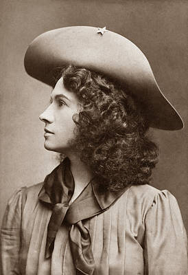 Historian Photograph - Annie Oakley - Little Sure Shot by War Is Hell Store