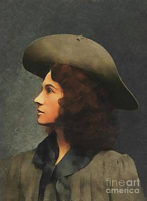 Farmhouse Royalty Free Images - Annie Oakley, Old West Royalty-Free Image by Esoterica Art Agency