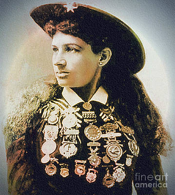 Painting - Annie Oakley - Shooting Legend by Ian Gledhill