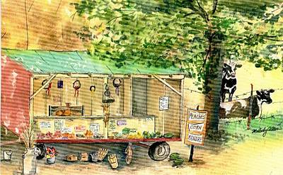 Farmstand Painting - Annie's Farmstand by Melody Allen