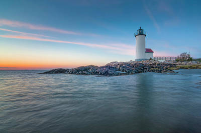 Annisquam Light In Waders Art Print