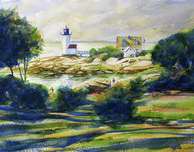 Painting - Annisquam Lighthouse Late Day by Carl Whitten
