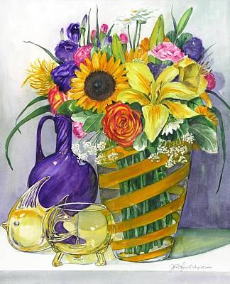 Anniversary Bouquet Art Print by Jane Loveall