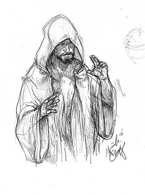 Devotional Drawing - Annointed One by Micah Clegg