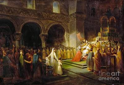 Dubois Painting - Annointing Of Pepin The Short by MotionAge Designs