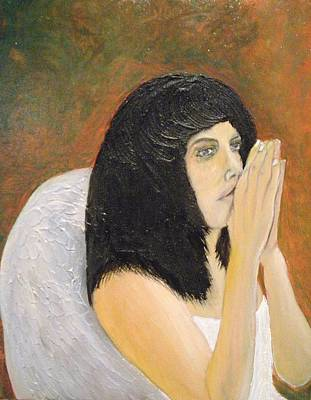 Annolita Praying Art Print by J Bauer