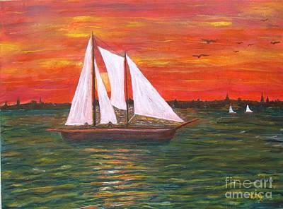 Annopolis Harbor Sunset Art Print