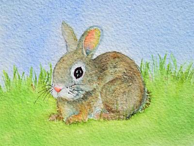 Painting - Ann's Bunny by Mary Ellen Mueller Legault