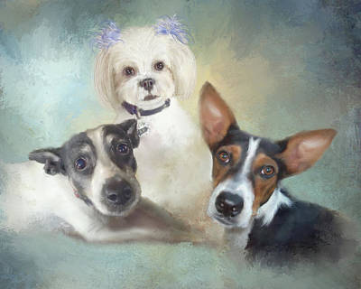Painting - Ann's Dogs by Colleen Taylor