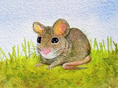 Painting - Ann's Mouse by Mary Ellen Mueller Legault