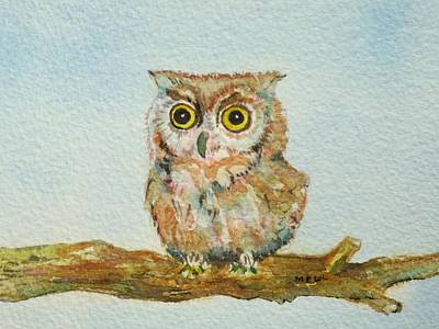 Painting - Ann's Owl by Mary Ellen Mueller Legault