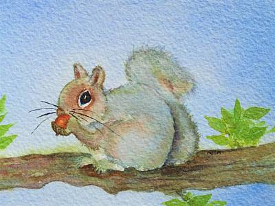 Painting - Ann's   Squirrel by Mary Ellen Mueller Legault