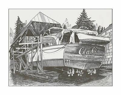 Annual Haul Out Chris Craft Yacht Art Print