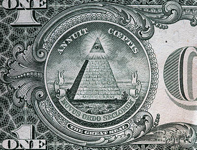 Banking Photograph - Annuit Coeptis Motto And The Eye Of Providence by Michal Bednarek