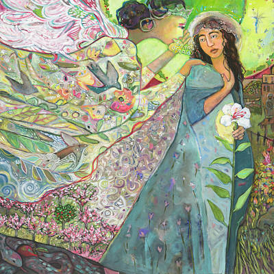 Painting - Annunciation by Jen Norton