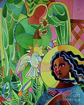 Painting - Annunciation Quilt - Mmanq by Br Mickey McGrath OSFS