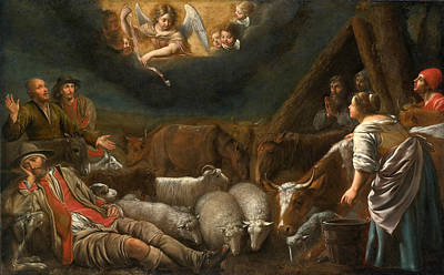 Annunciation To The Shepherds Art Print