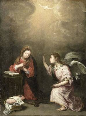 Painting - Annunciation To The Virgin by Celestial Images