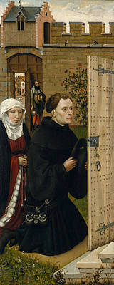 Gabriel Painting - Annunciation Triptych, Merode Altarpiece, Right Wing by Robert Campin