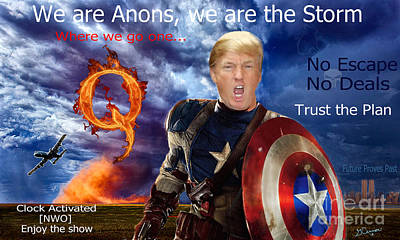 Digital Art - Anons, We Are The Storm by G Cannon