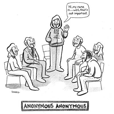 Drawing - Anonymous Anonymous by Benjamin Schwartz