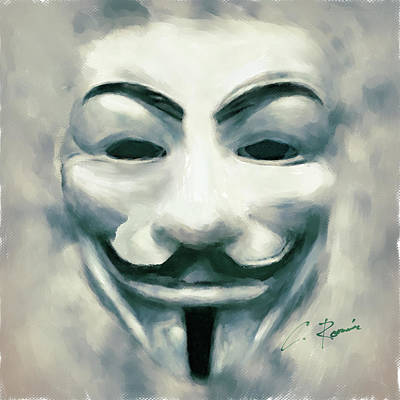 Digital Art - Anonymous by Charlie Roman